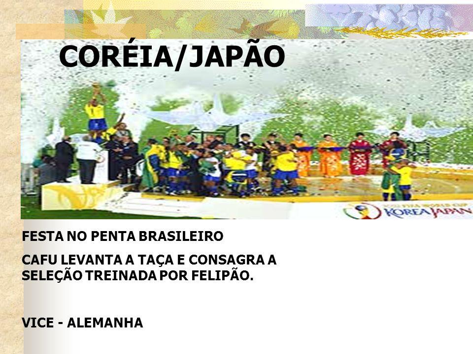 CORÉIA/JAPÃO FESTA NO PENTA BRASILEIRO CAFU LEVANTA A TAÇA E CONSAGRA A SELEÇÃO TREINADA POR FELIPÃO. VICE - ALEMANHA