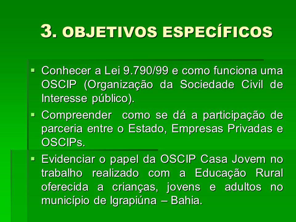3. OBJETIVOS ESPECÍFICOS 3.