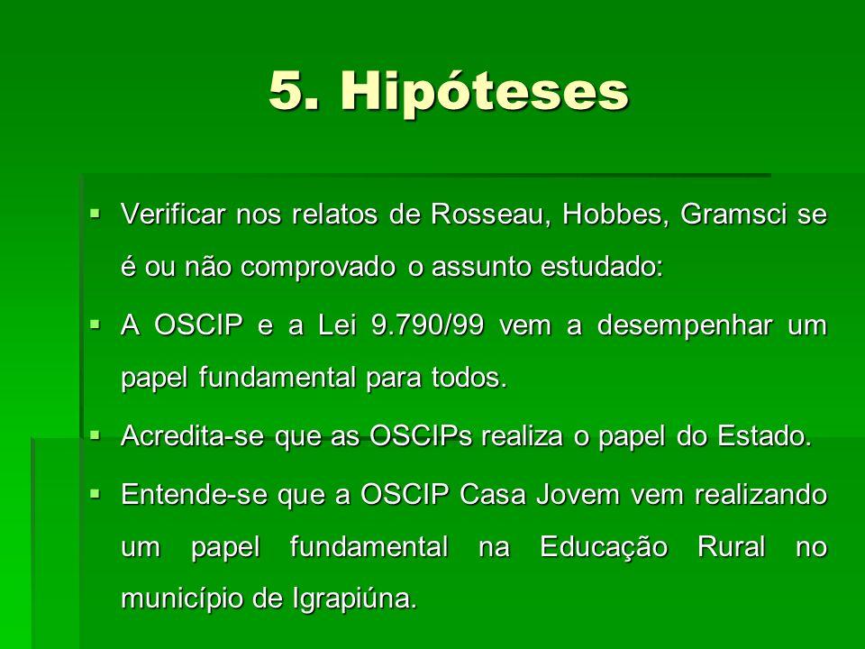 5. Hipóteses 5.