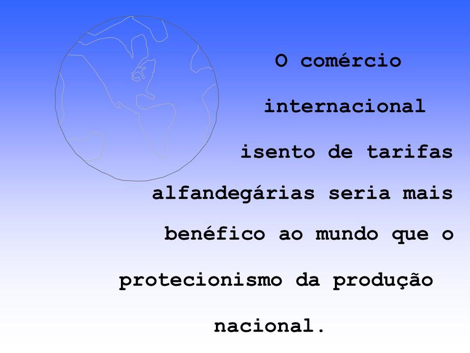 Autorizar a livre troca de mercadorias entre de mercadorias entre países permite uma maior especialização da produção e o aumento das economias e o aumento das economias de escala.