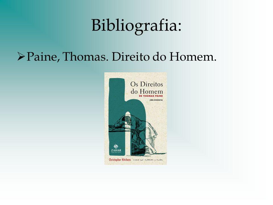 Bibliografia: Paine, Thomas. Direito do Homem.