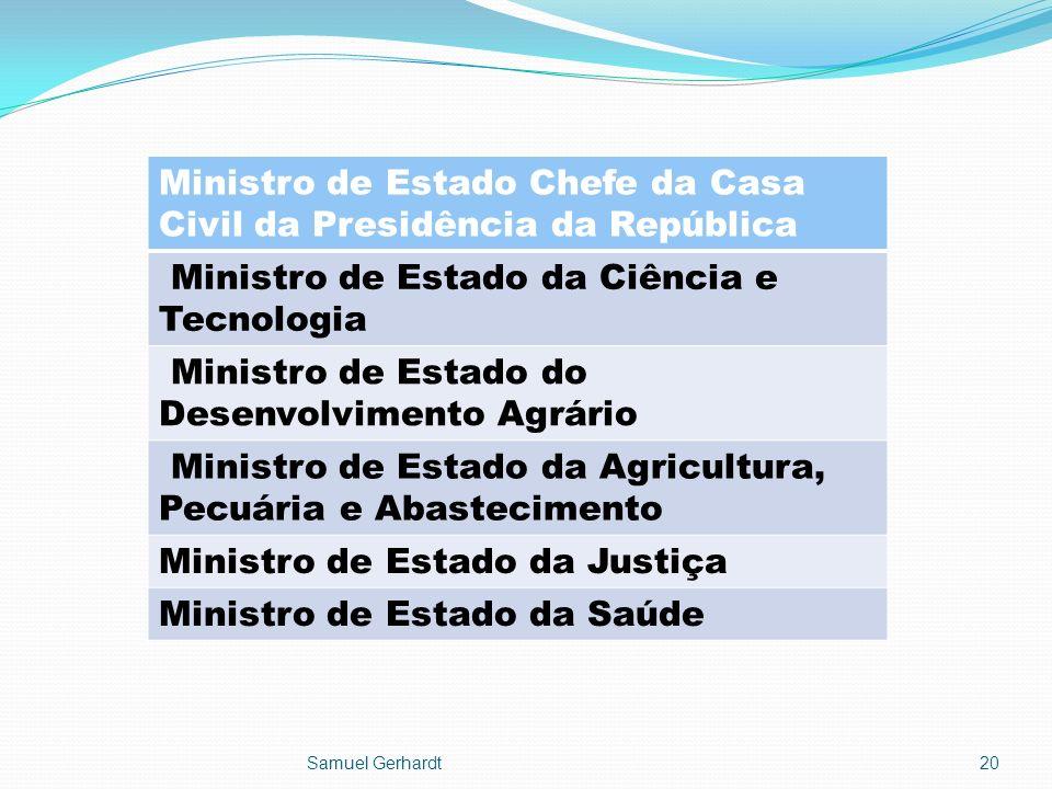 Ministro de Estado Chefe da Casa Civil da Presidência da República Ministro de Estado da Ciência e Tecnologia Ministro de Estado do Desenvolvimento Ag