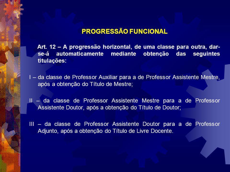 PROGRESSÃO FUNCIONAL Art.