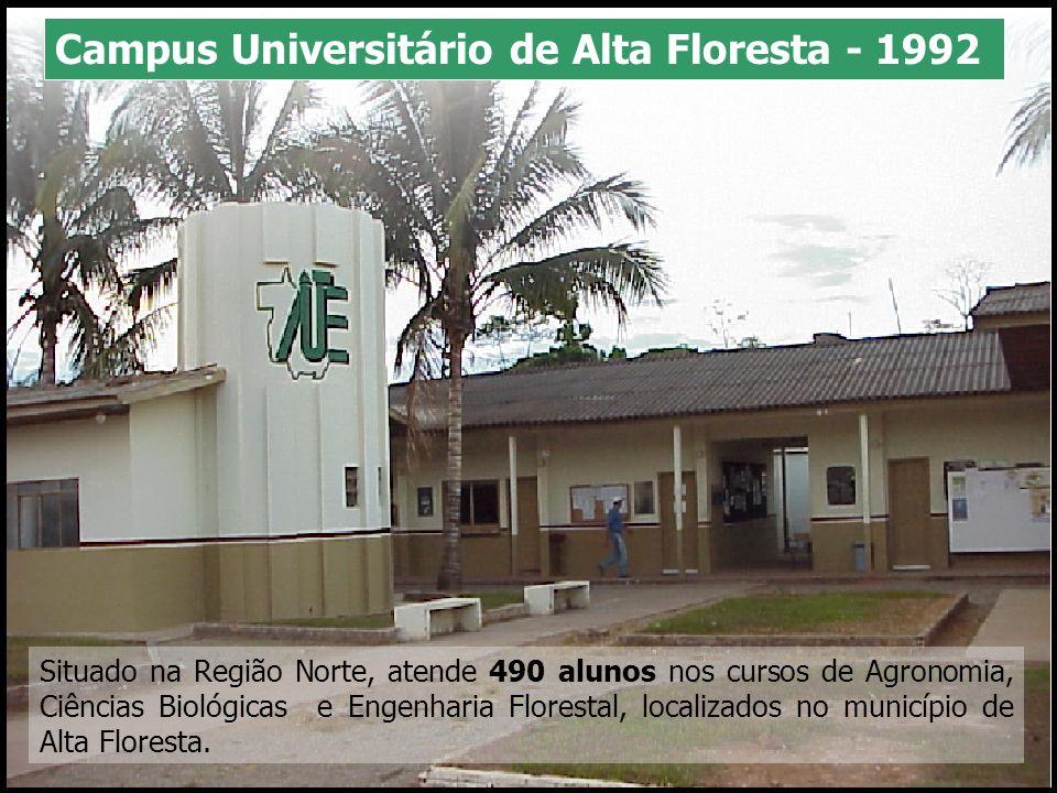 Situado na Região Sudeste, atende 410 alunos nos cursos de Letras e Computação, localizados no município de Alto Araguaia.