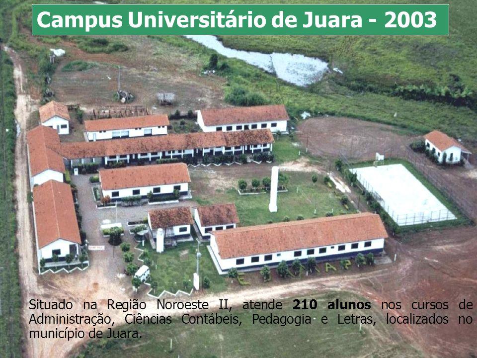 Situado na Região Noroeste II, atende 210 alunos nos cursos de Administração, Ciências Contábeis, Pedagogia e Letras, localizados no município de Juar