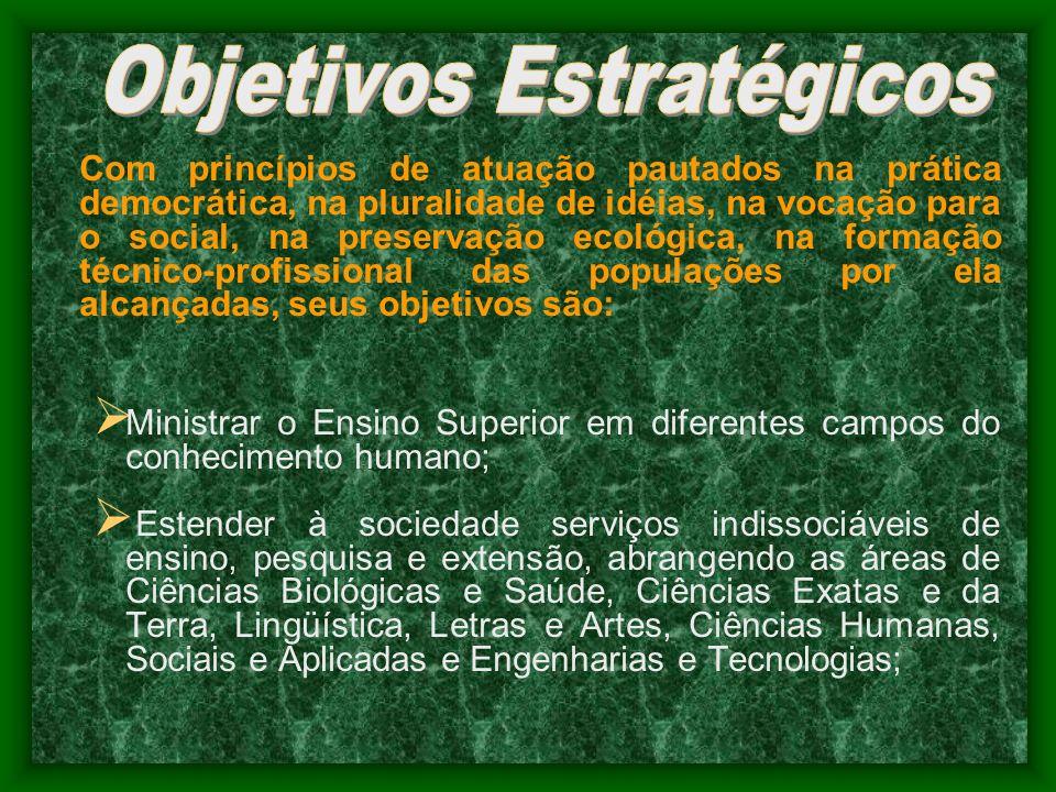 Com princípios de atuação pautados na prática democrática, na pluralidade de idéias, na vocação para o social, na preservação ecológica, na formação t