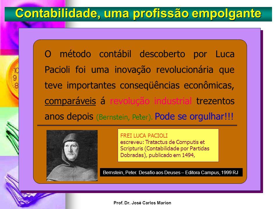 Prof. Dr. José Carlos Marion Contabilidade, uma profissão empolgante.. O Gênio das Finanças, o grande mago dos Investimentos, o homem mais rico do mun