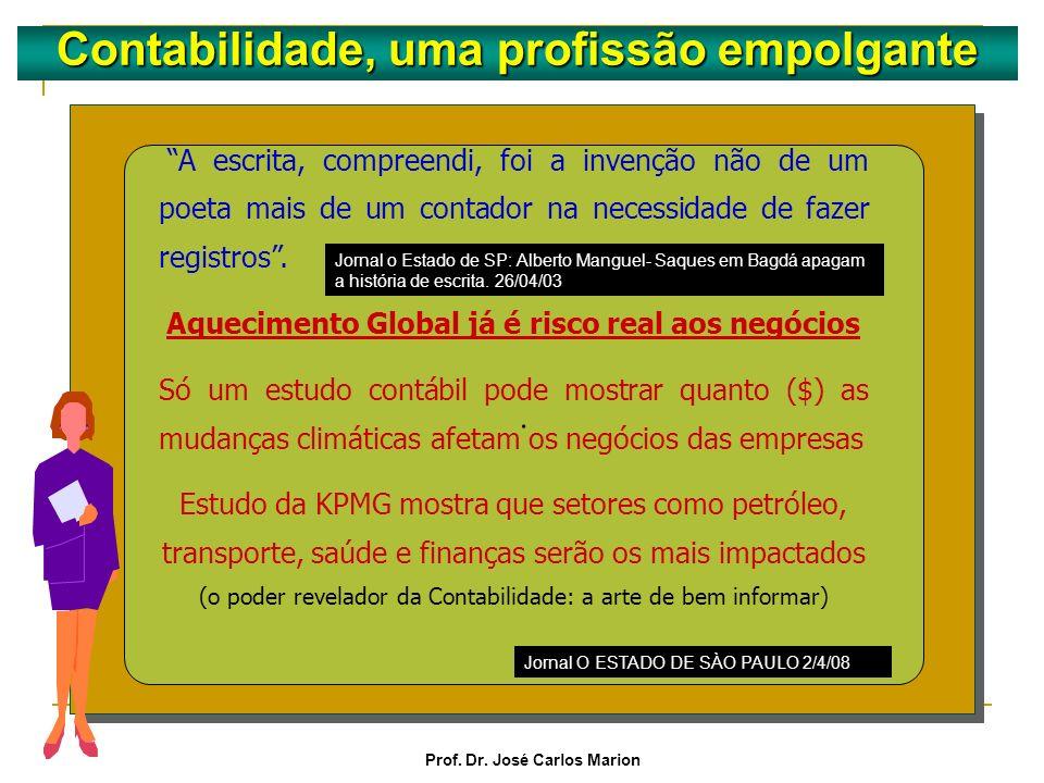 Prof. Dr. José Carlos Marion Contabilidade, uma profissão empolgante. O método contábil descoberto por Luca Pacioli foi uma inovação revolucionária qu