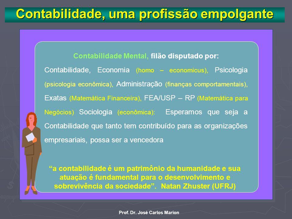 Prof. Dr. José Carlos Marion O maior best seller (Pai Rico, Pai Pobre) na área de negócios dos últimos tempos diz: A única maneira de ser bem sucedido