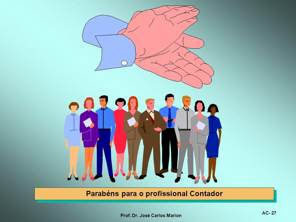 Prof. Dr. José Carlos Marion Contabilidade, uma profissão empolgante Veja o que acontece com o homem: Há um elemento irracional que age nas tomadas de