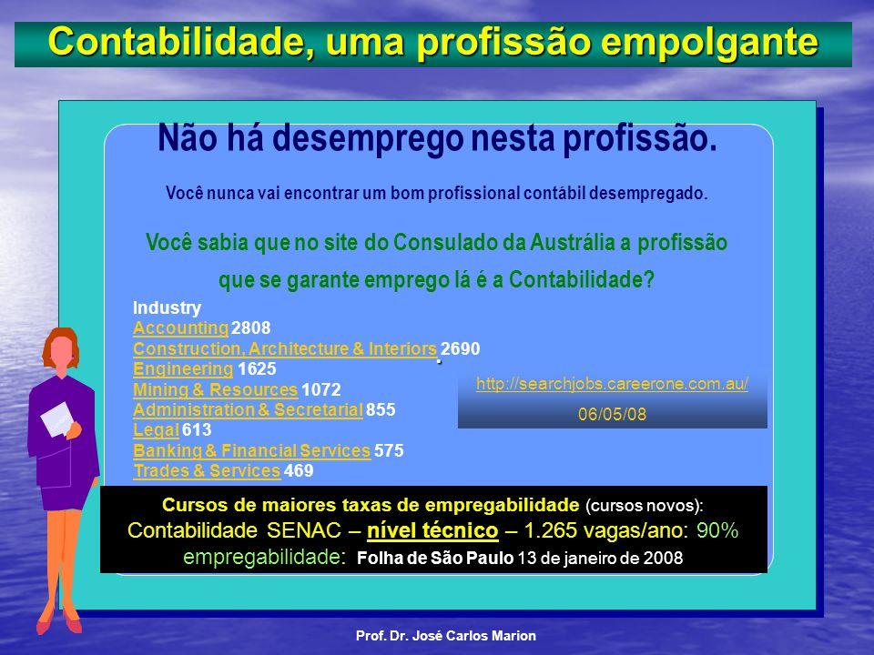 AC- 3 Prof. Dr. José Carlos Marion Folder Por que você deveria fazer o curso de Ciências Contábeis? Compare estas vantagens com outras profissões Lanç