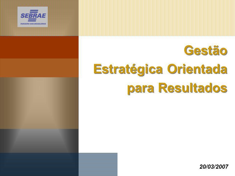 Gestão Estratégica Orientada para Resultados 20/03/2007