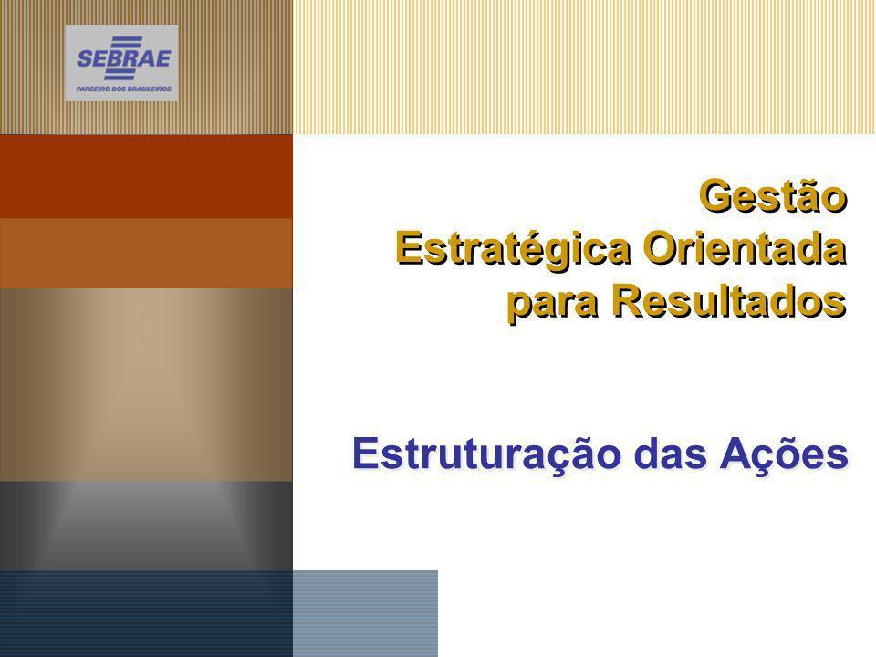 Estruturação das Ações Gestão Estratégica Orientada para Resultados