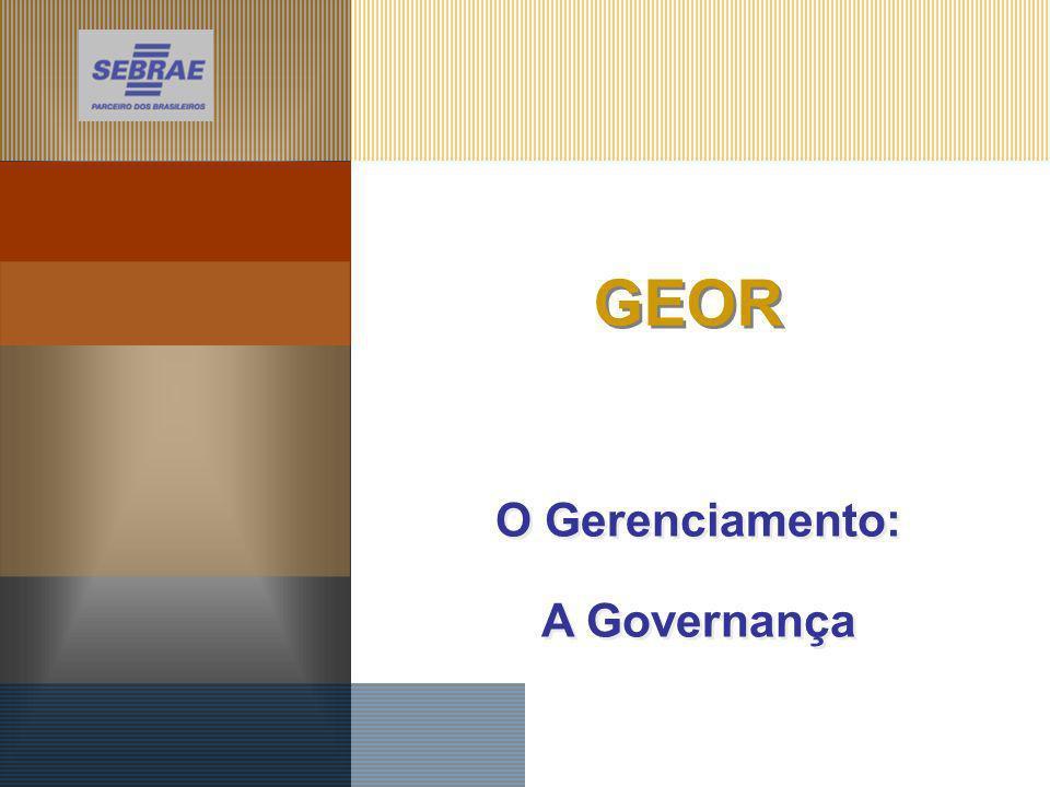 O Gerenciamento: A Governança O Gerenciamento: A Governança GEOR