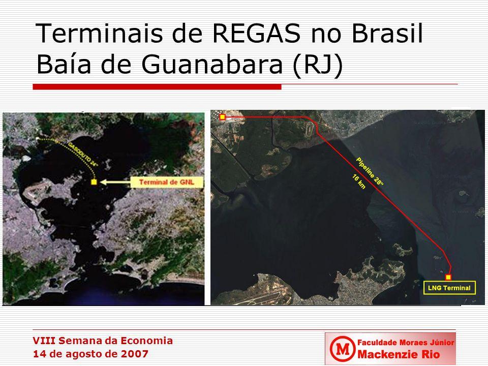 VIII Semana da Economia 14 de agosto de 2007 Terminais de REGAS no Brasil Baía de Guanabara (RJ)