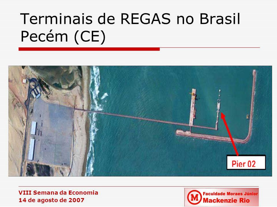 VIII Semana da Economia 14 de agosto de 2007 Terminais de REGAS no Brasil Pecém (CE)