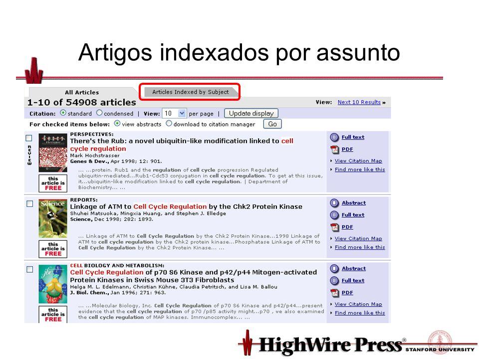 Artigos indexados por assunto
