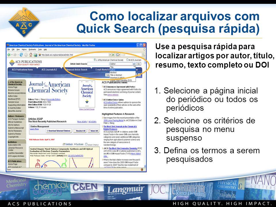 Como localizar arquivos com Quick Search (pesquisa rápida) 1.