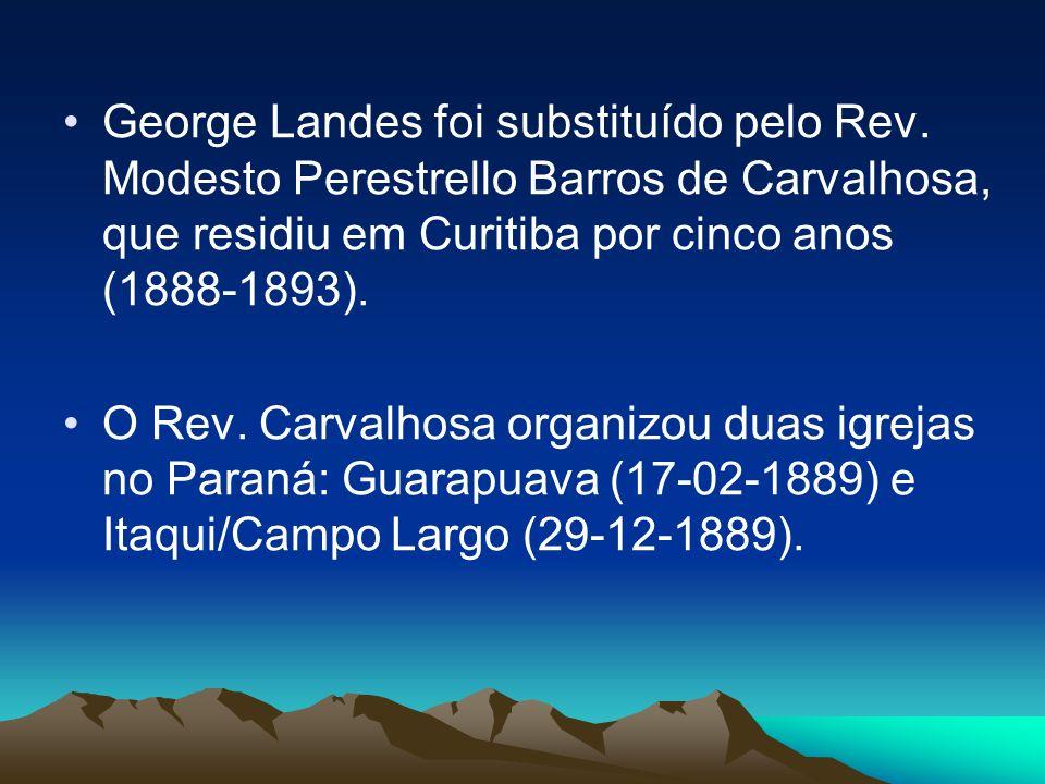 George Landes foi substituído pelo Rev.