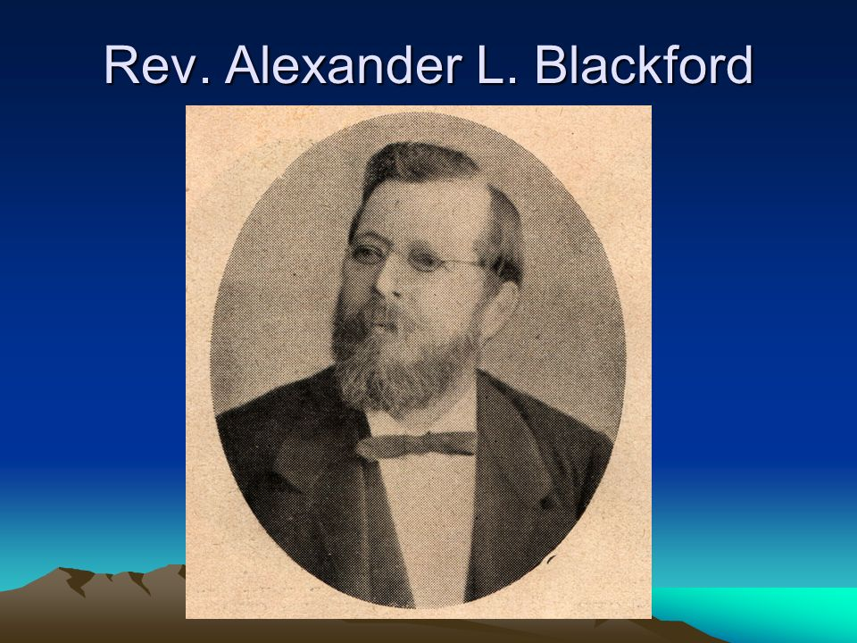 Rev. Alexander L. Blackford