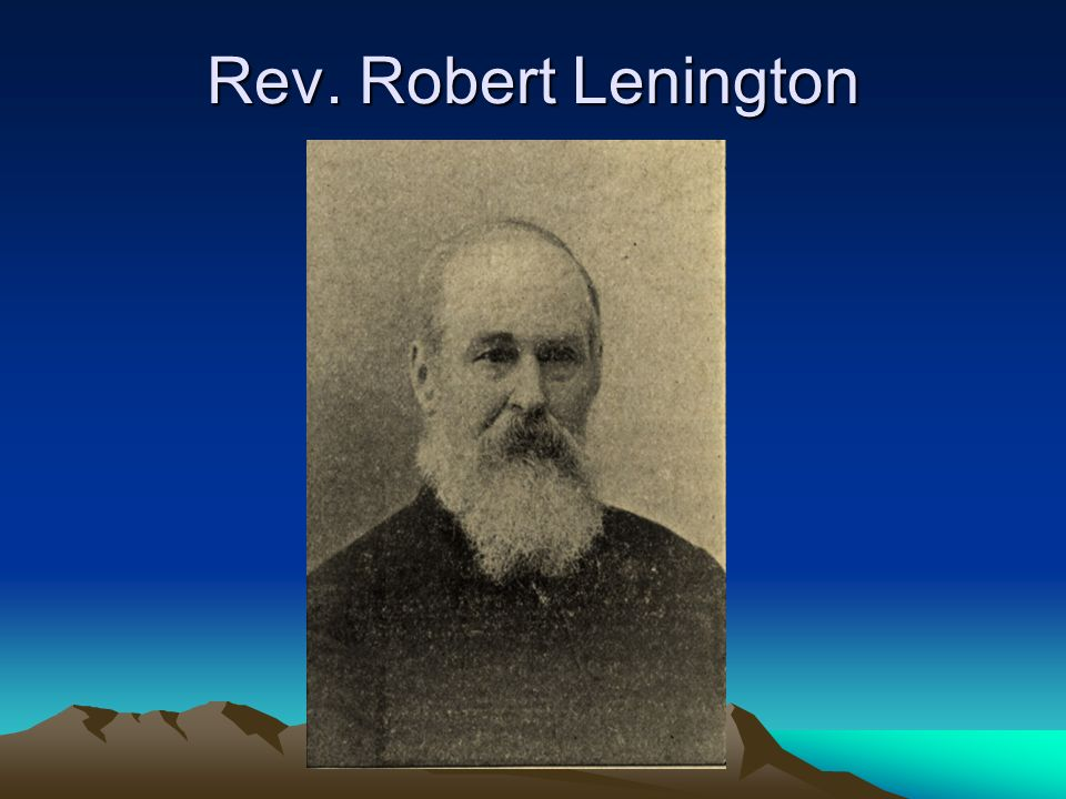 Rev. Robert Lenington