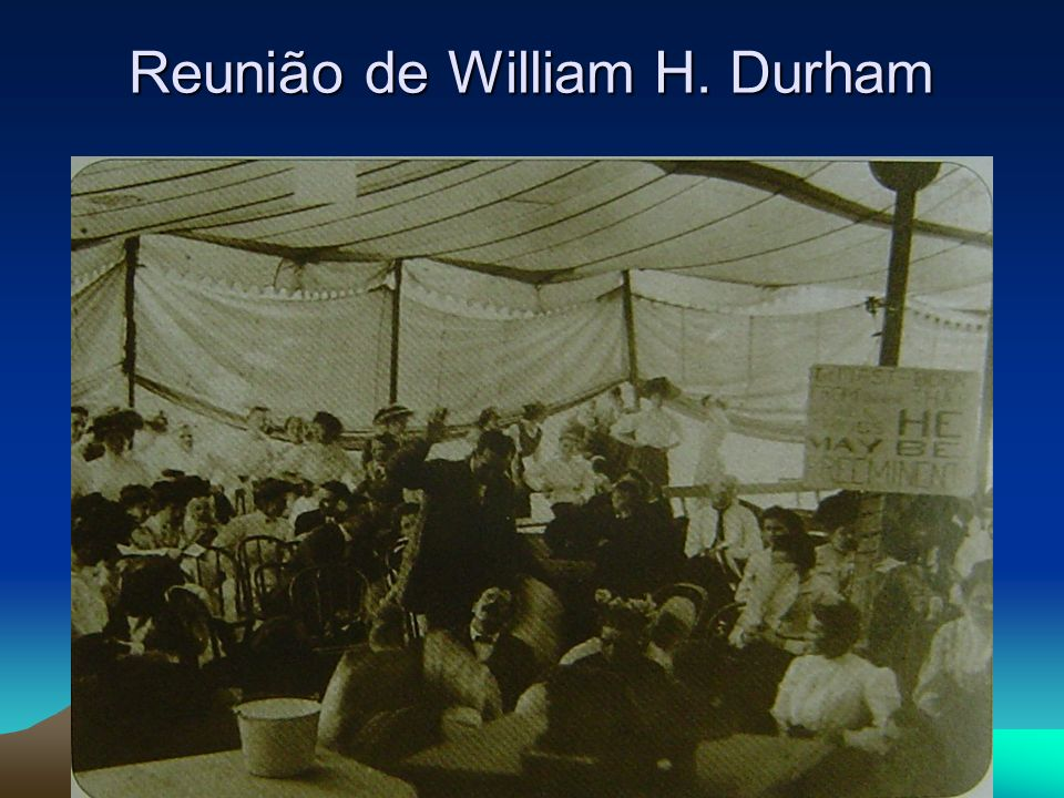CRONOLOGIA I.Raízes no movimento holiness 1867 – é criada a Associação Nacional Holiness.
