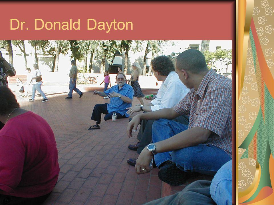 Dr. Donald Dayton