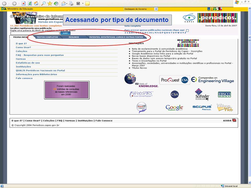 Base referencial/resumo multidisciplinar Atenção: nas bases de resumos - nem todas as referências possuem link com o texto completo.