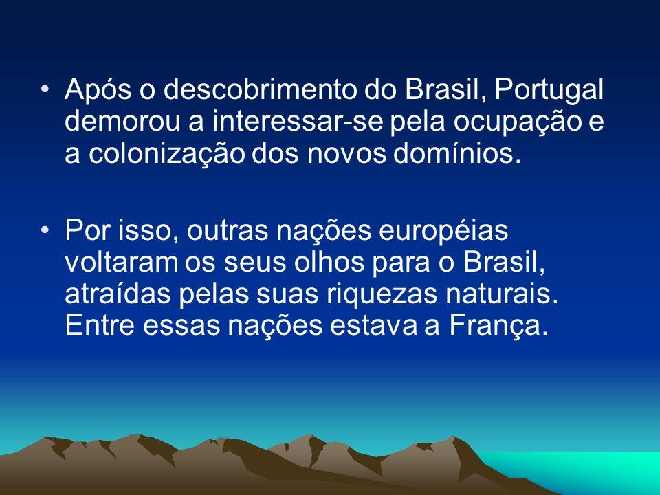 Após o descobrimento do Brasil, Portugal demorou a interessar-se pela ocupação e a colonização dos novos domínios. Por isso, outras nações européias v