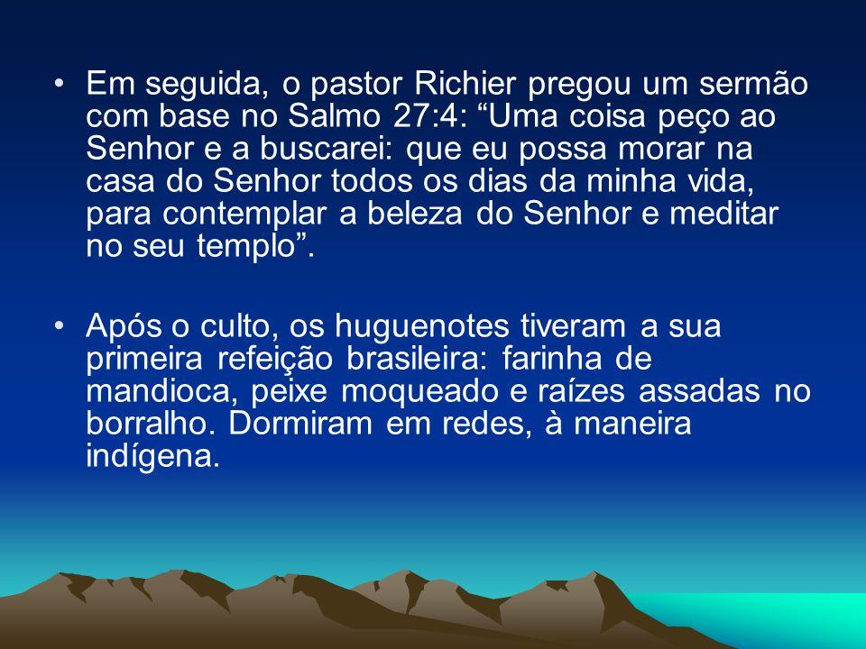 Em seguida, o pastor Richier pregou um sermão com base no Salmo 27:4: Uma coisa peço ao Senhor e a buscarei: que eu possa morar na casa do Senhor todo