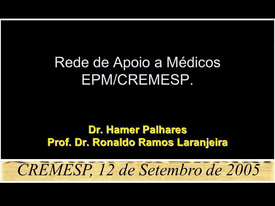 Rede de Apoio a Médicos EPM/CREMESP.Dr. Hamer Palhares Prof.