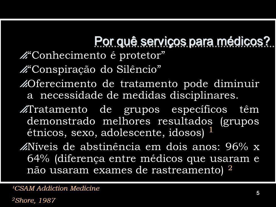 5 Conhecimento é protetor Conspiração do Silêncio Oferecimento de tratamento pode diminuir a necessidade de medidas disciplinares.