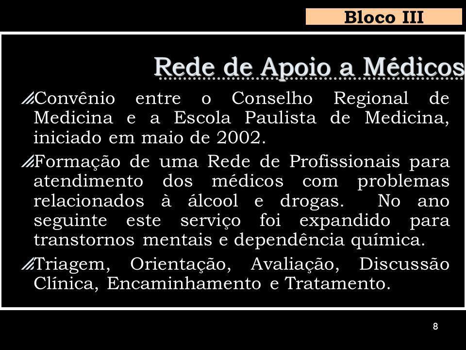 8 Convênio entre o Conselho Regional de Medicina e a Escola Paulista de Medicina, iniciado em maio de 2002.
