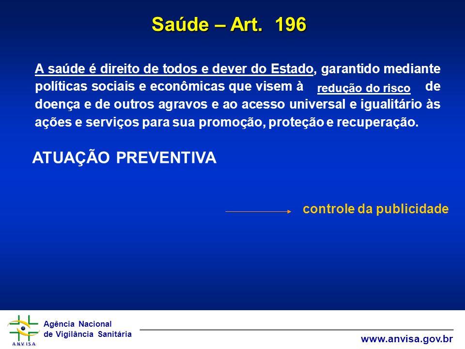 Agência Nacional de Vigilância Sanitária www.anvisa.gov.br Agência Nacional de Vigilância Sanitária www.anvisa.gov.br A saúde é direito de todos e dev