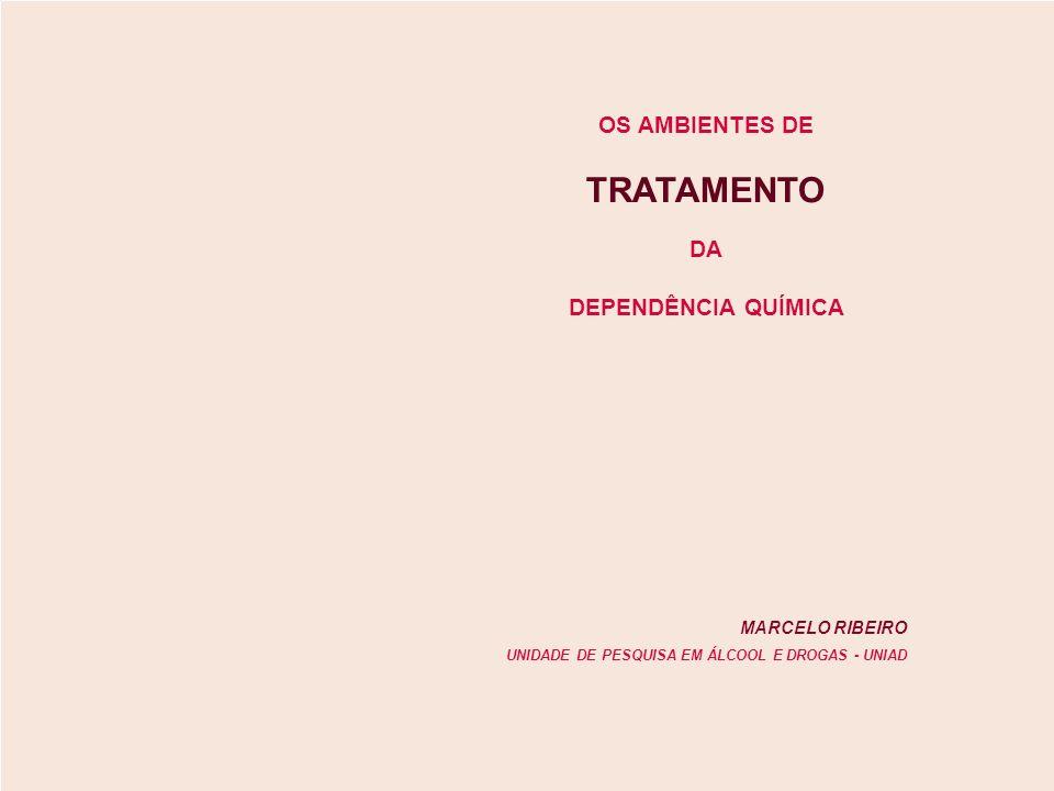 DEPENDÊNCIA QUÍMICA TRATAMENTO MARCELO RIBEIRO UNIDADE DE PESQUISA EM ÁLCOOL E DROGAS - UNIAD OS AMBIENTES DE DA