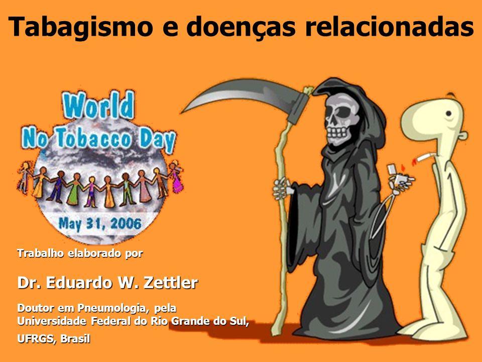 Tabagismo e doenças relacionadas Trabalho elaborado por Trabalho elaborado por Dr. Eduardo W. Zettler Dr. Eduardo W. Zettler Doutor em Pneumologia, pe