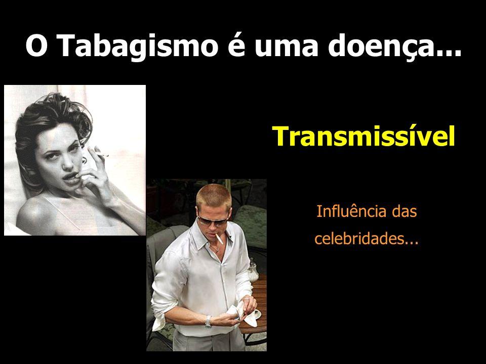 O Tabagismo é uma doença... Transmissível Influência das celebridades...