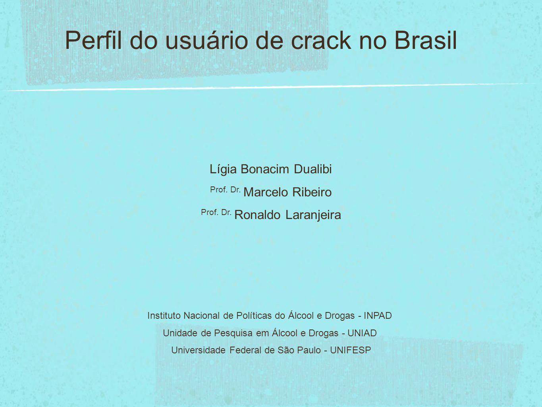 Lígia Duailibi Marcelo Ribeiro Ronaldo Laranjeira Perfil dos usuários de cocaína e crack no Brasil.