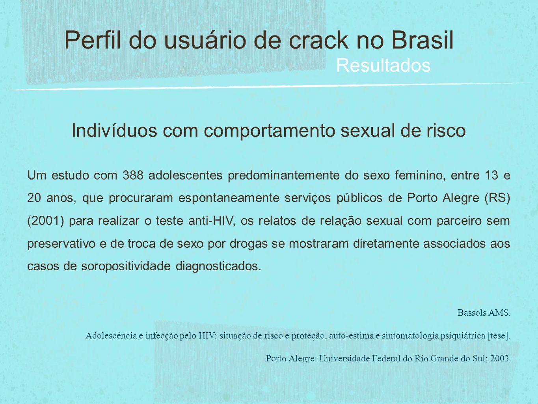 Indivíduos com comportamento sexual de risco Um estudo com 388 adolescentes predominantemente do sexo feminino, entre 13 e 20 anos, que procuraram esp