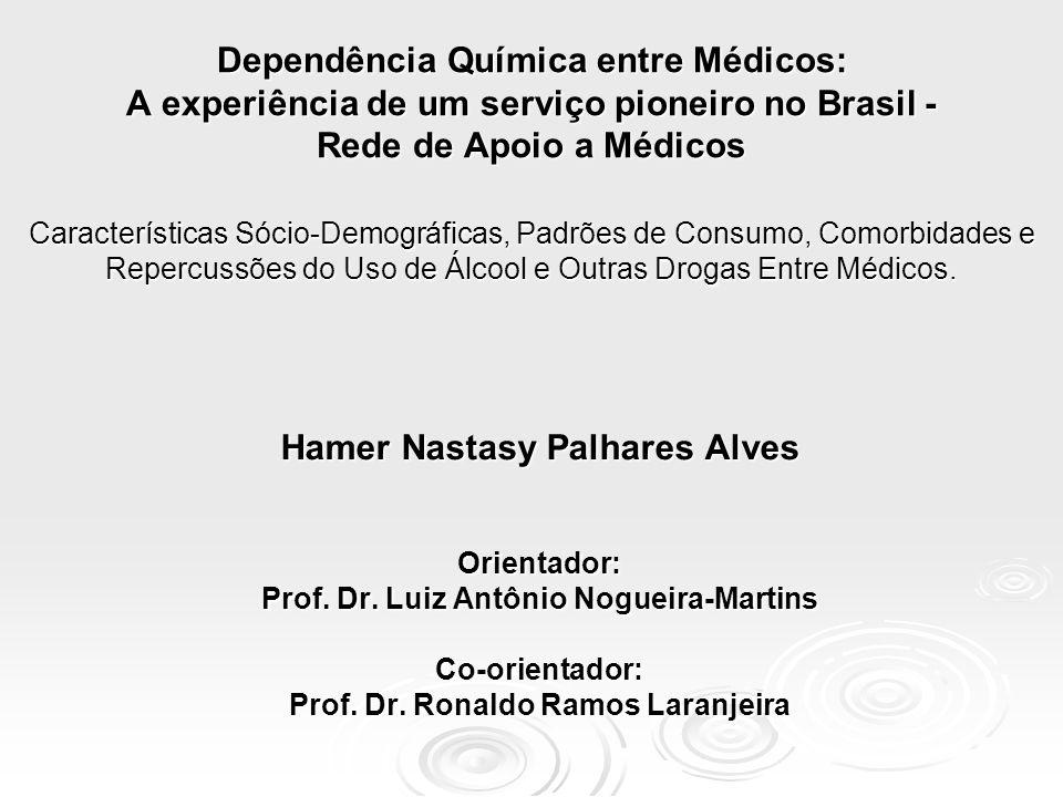 Dependência Química entre Médicos: A experiência de um serviço pioneiro no Brasil - Rede de Apoio a Médicos Características Sócio-Demográficas, Padrõe