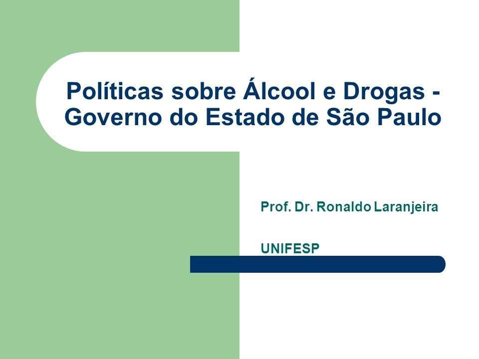 Políticas sobre Álcool e Drogas - Governo do Estado de São Paulo Prof.