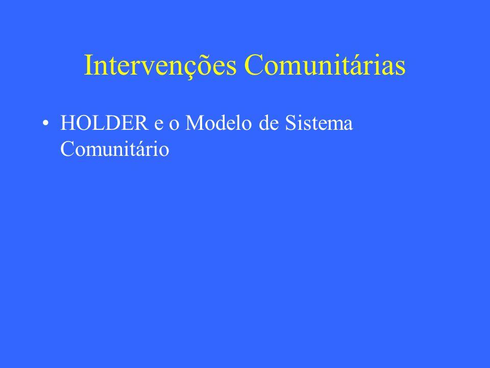 Intervenções Comunitárias HOLDER e o Modelo de Sistema Comunitário