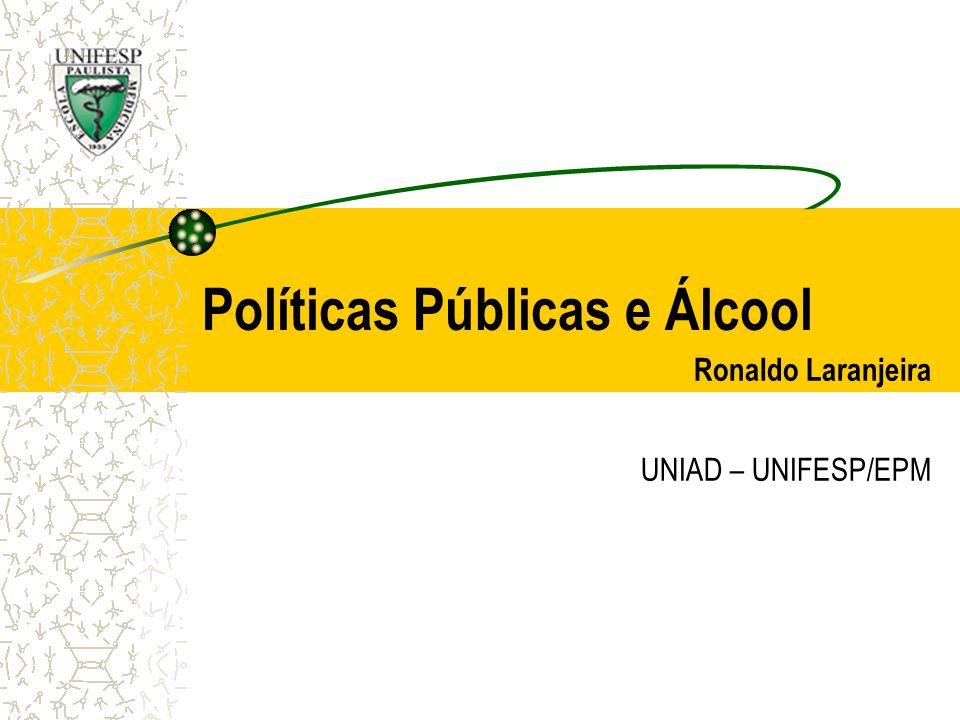 Políticas Públicas e Álcool Ronaldo Laranjeira UNIAD – UNIFESP/EPM