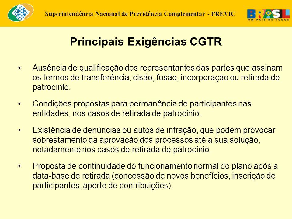 Superintendência Nacional de Previdência Complementar - PREVIC Ausência de qualificação dos representantes das partes que assinam os termos de transfe
