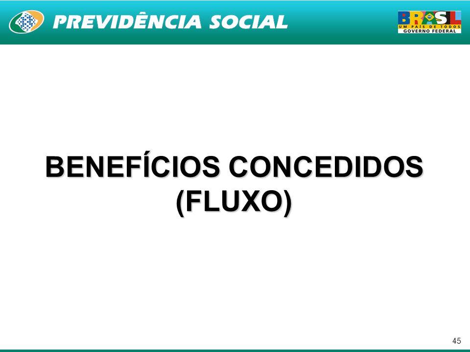 45 BENEFÍCIOS CONCEDIDOS (FLUXO)