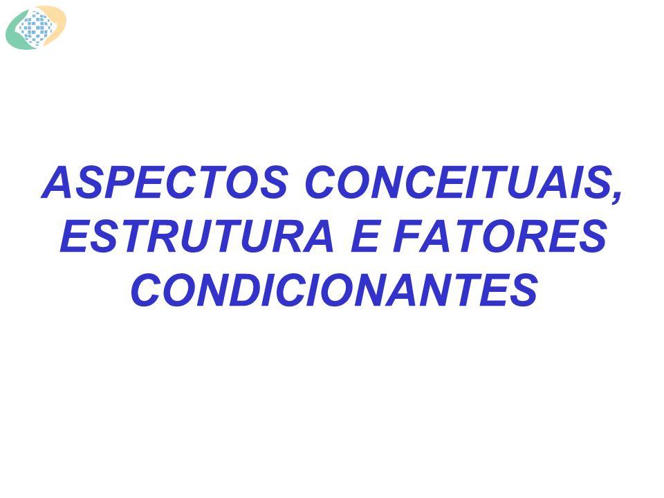 ASPECTOS CONCEITUAIS, ESTRUTURA E FATORES CONDICIONANTES