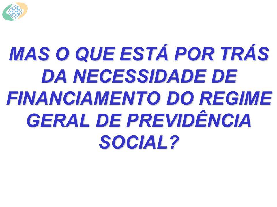 MAS O QUE ESTÁ POR TRÁS DA NECESSIDADE DE FINANCIAMENTO DO REGIME GERAL DE PREVIDÊNCIA SOCIAL?