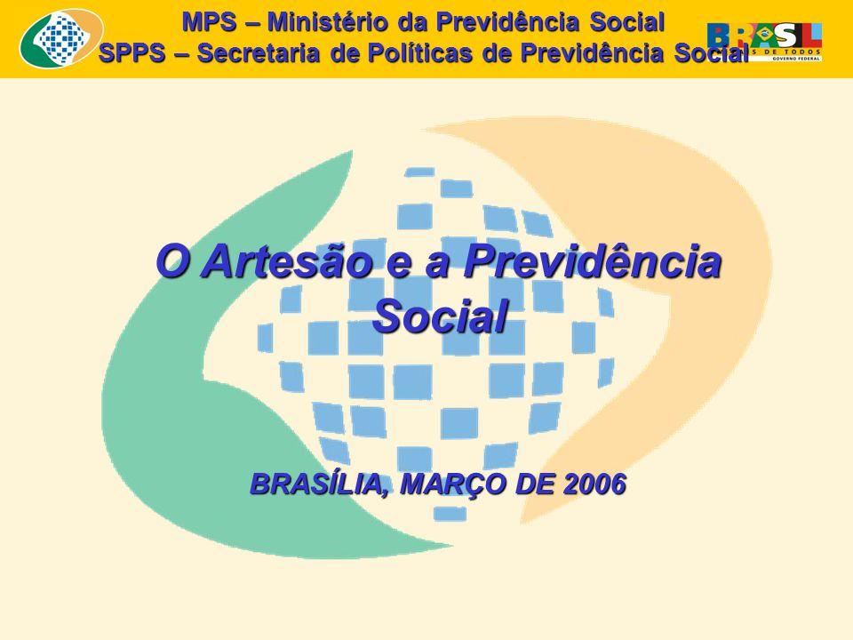 MPS – Ministério da Previdência Social SPPS – Secretaria de Políticas de Previdência Social O Artesão e a Previdência Social BRASÍLIA, MARÇO DE 2006