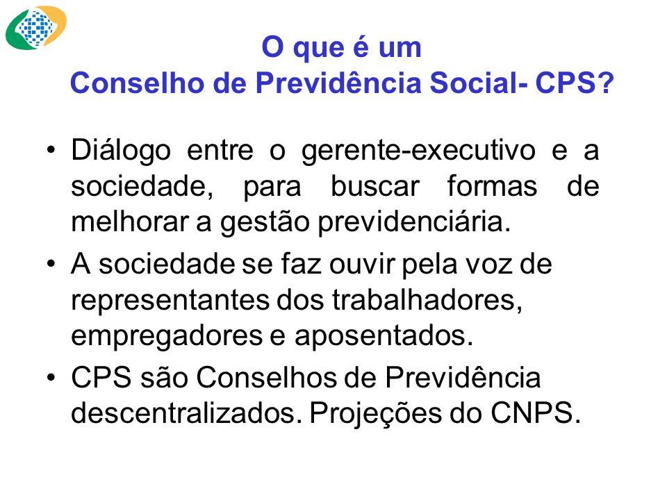 O que é um Conselho de Previdência Social- CPS? Diálogo entre o gerente-executivo e a sociedade, para buscar formas de melhorar a gestão previdenciári