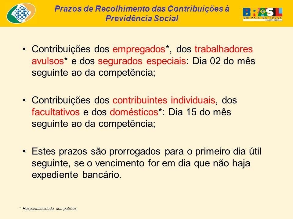 Período de Carência para a Garantia do Direito aos Benefícios Carência: É o tempo correspondente ao número mínimo de contribuições exigido para a garantia do recebimento dos benefícios a que tem direito o segurado.